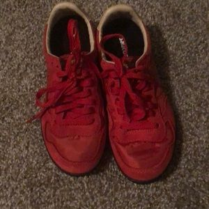 Saucony Sneakers, Red, Women's Size 6.5